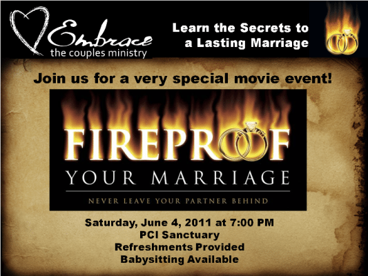 Pacific Church of Irvine Presents - FIREPROOF